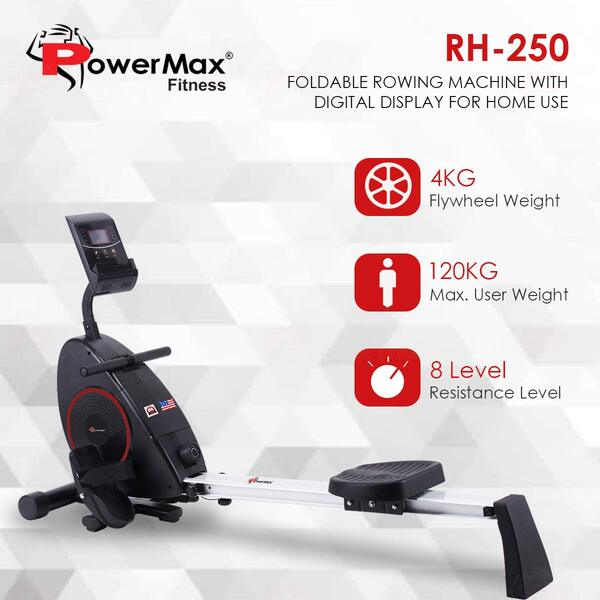 PowerMax Fitness RH-250 Foldable Rowing Machine