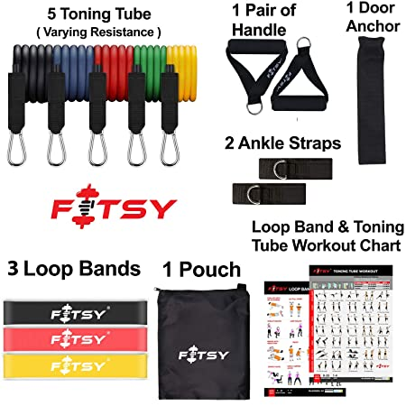 Fitsy 16 pc resistance Band
