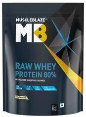 MuscleBlaze Raw Whey Protein Concentrate 80%